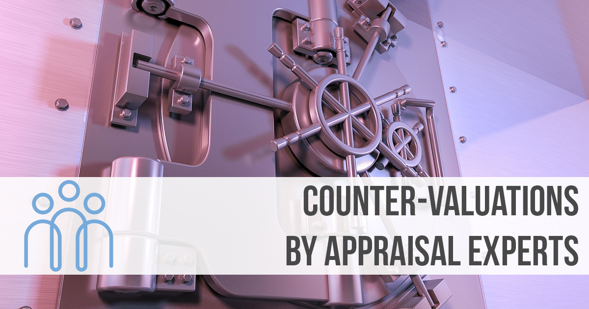 Counter-valuations by appraisal experts
