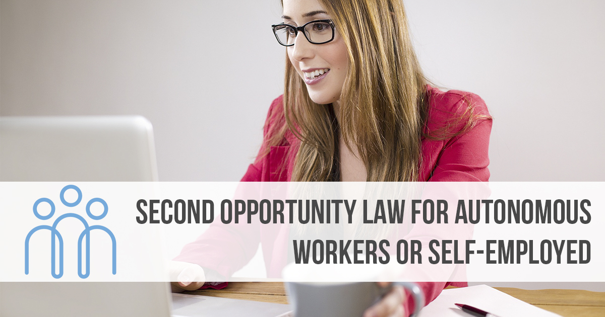 Second Opportunity Law for Autonomous Workers or self-employed