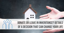 Inheritance taxes or donate taxes